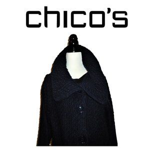 Chunky Knit Button Up the Neck Jacket by Chico's